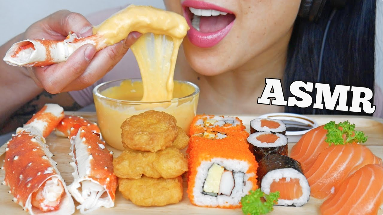 Asmr First Time Trying Raw King Crab Sashimi Sushi Eating Sounds No Talking Sas Asmr Youtube You'll find a variety of asmr videos covering numerous triggers. asmr first time trying raw king crab