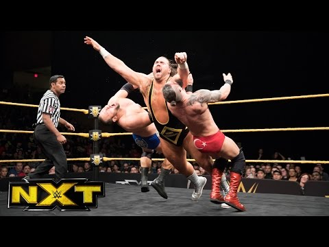 Heavy Machinery vs. vs. Jonathan Ortagun & Mike Marshall: WWE NXT, March 29, 2017