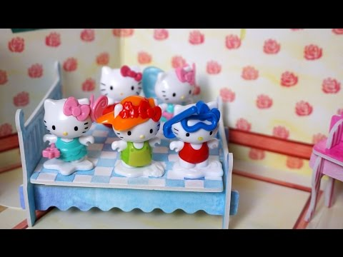 Five Hello Kitty Jumping on the bed | New compilation Nursery Rhyme Song video for Children