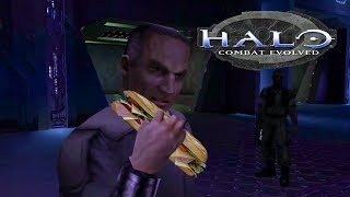 Halo CE: Captain Keyes really wants a sandwich