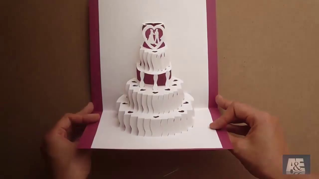 How to make a Amazing Wedding Cake Pop Up Card Tutorial Free – Pop Up Birthday Card Templates