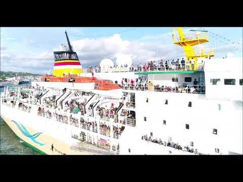 Kapal PELNI KM. Gunung Dempo Berlayar dari Pelabuhan Ahmad Yani Kota Sorong Papua Barat 2018 Mp3