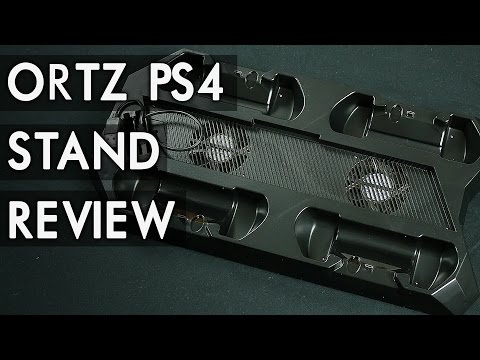 Ortz PS4 Vertical Stand / 4 Controller Charging, 4 Port USB Hub, Cooling Fan