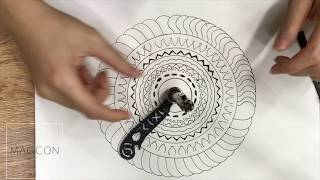 Magcon Ultimate Design Tool Mini Compass Protractor Combo-Circles Drawing Y1