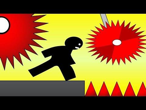 ОЧЕНЬ ОПАСНО! Черный человечек ВЫЖИВАЕТ среди ЛЕЗВИЙ Игровой Мультик Vex 3