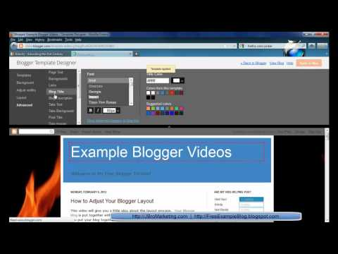 Blogger How to (6/8) - Customize Your Design and Look