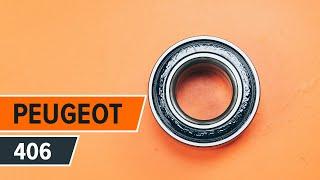Montering Hjullagersett bak venstre høyre PEUGEOT 406: videoopplæring