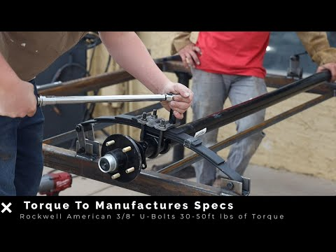 How To Install A 3,500 Lb Trailer Axle With Double EyeSprings And Hanger Kit.