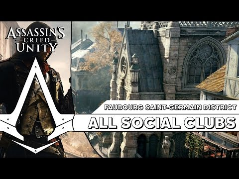 Assassin's Creed Unity: Renovate All Social Clubs & Complete All Missions - Faubourg Saint-Germain