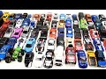 Lot of Metal Toy Cars in one Video