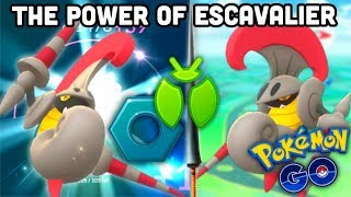 The power of Escavalier in Pokemon GO | Medieval grass domination