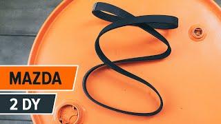Instalación Correa de servicio usted mismo videos instruccion en MAZDA 2