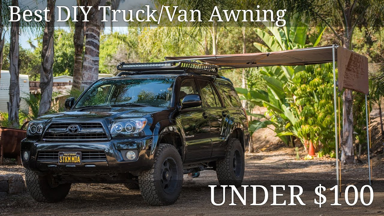 Diy Truck Awning Under 100 Youtube