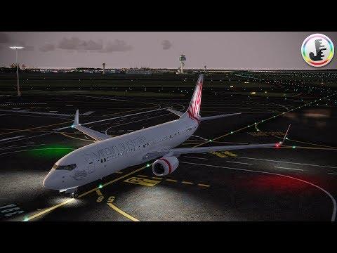 [P3D V4] Virgin Australia 737-800 Beautiful Dawn Landing in Sydney!!