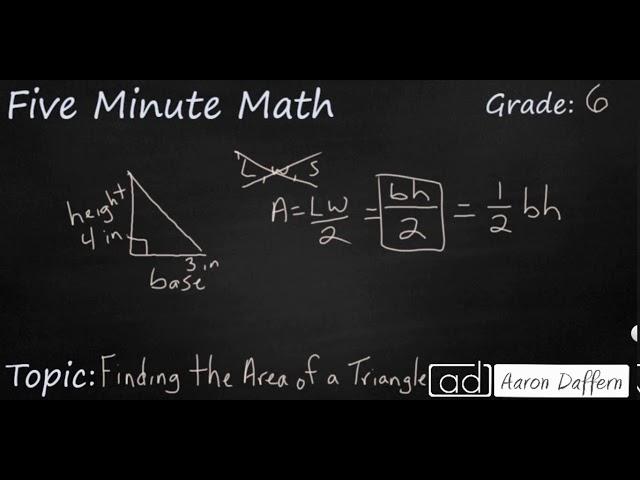 6th Grade Math - Area Formulas