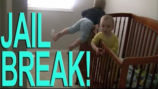 Watch Twins Escape From Crib!