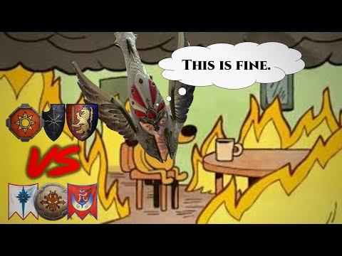 THIS IS FINE  - Total War Warhammer 2 - 3v3 Battle |