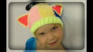 Разноцветная широкая полоска на голову, вязание спицами и крючком