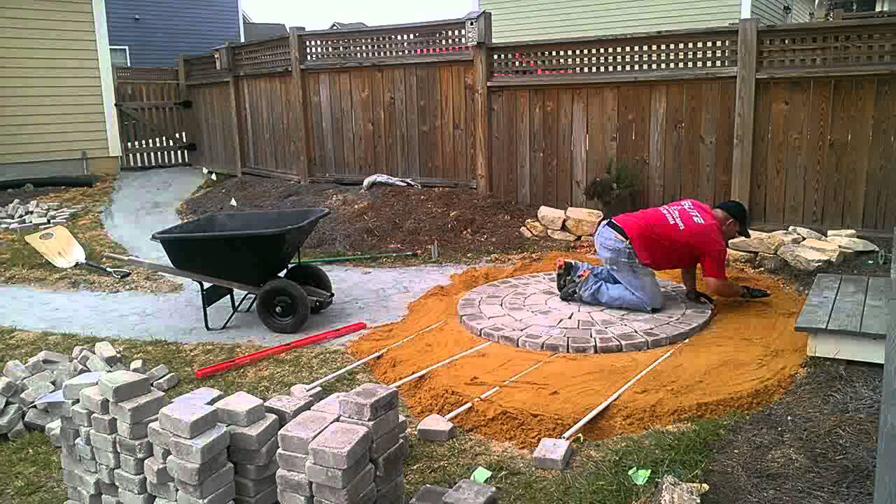 Time Lapse Circular Patio Paver Installation   Part 1   YouTube