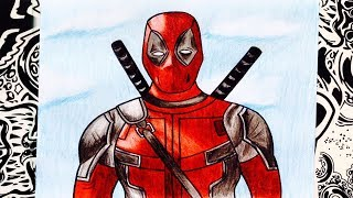 como dibujar a deadpool | how to draw deadpool | como desenhar o deadpool