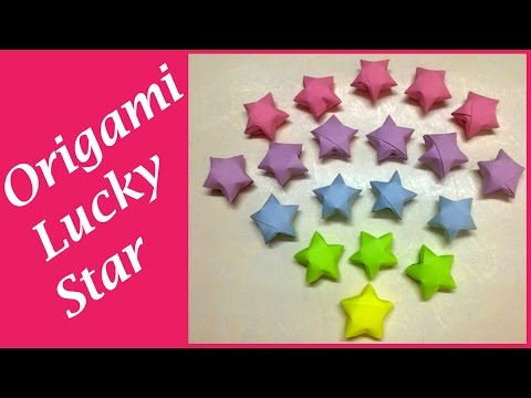 DIY: How to make a Lucky Star   Origami Star   Paper Star