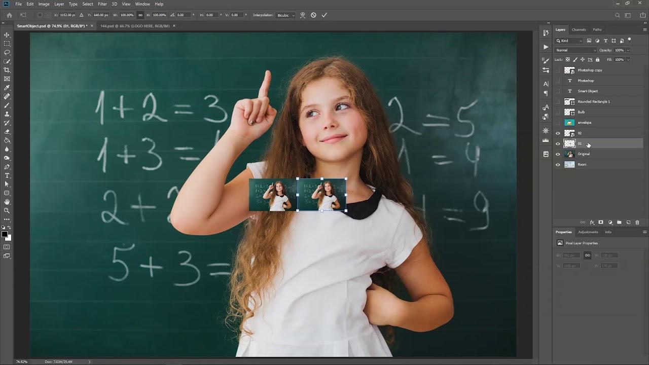 Photoshop CC: Linked Smart Objects - YouTube