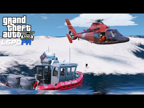 GTA 5 LSPDFR USCG Coastal Callouts   Helicopter Rescue Training Mission   United States Coast Guard