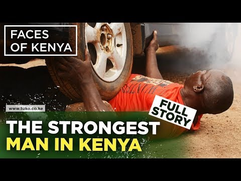 Meet Kenya's Strongest Man who has the Strength of a Rhino (Amazing Story)| Faces of Kenya - Tuko TV