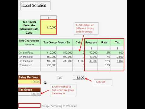 Excel Solution - How To Calculate Progress Rate Of Salary Tax