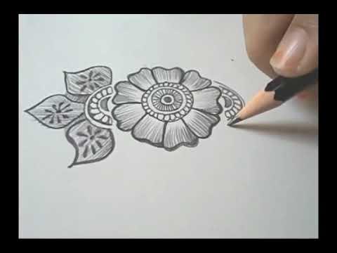 رسم زخرفة نباتية Youtube