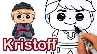 How to Draw Kristoff Cute step by step from Frozen