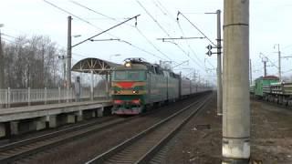 Электровоз ЧС7 223 с пассажирским
