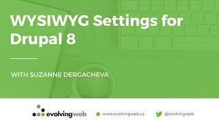 WYSIWYG Settings for Drupal 8