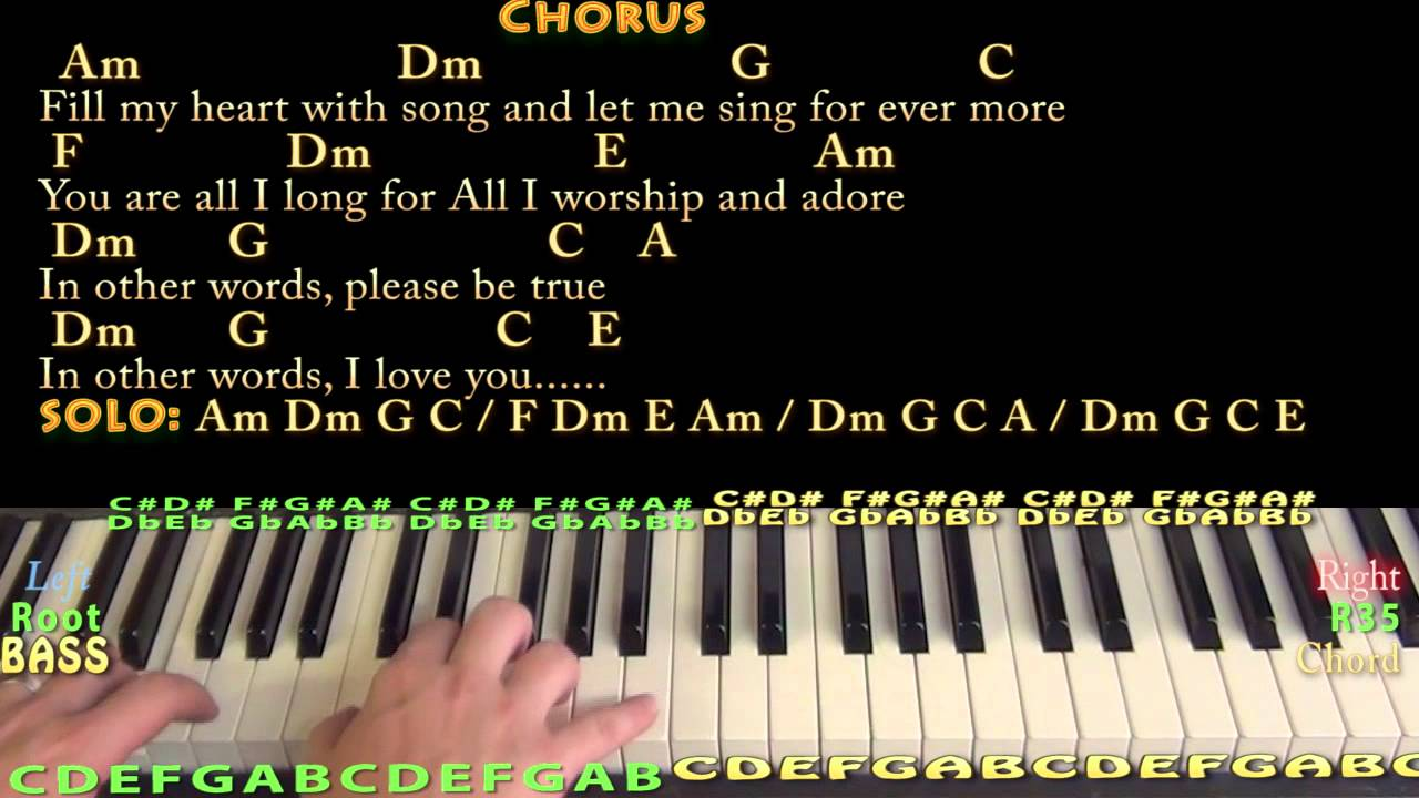 Fly Me To The Moon Jazzy Piano Cover Lesson With Chordslyrics