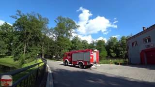 Польша, пожарные в Кракове/ Polska, straż pożarna w Krakowie
