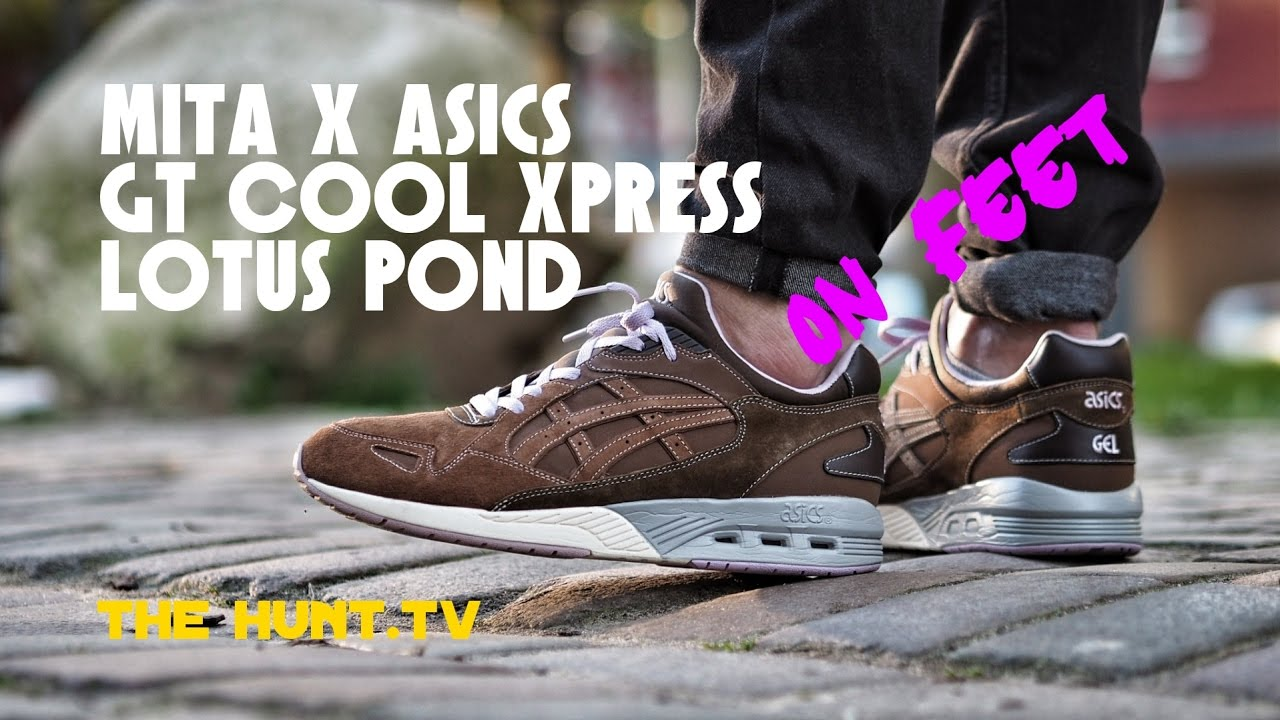 official photos f4ac0 e0dfe Mita Asics GT Cool Xpress Lotus Pond Sneaker On Feet Video   The Hunt.TV