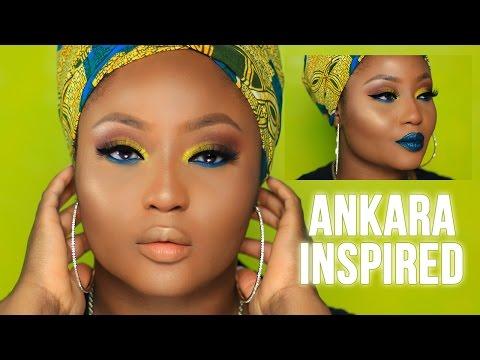 summer-yellow-blue-ankara-inspired-makeup-tutorial-|-youkeyy