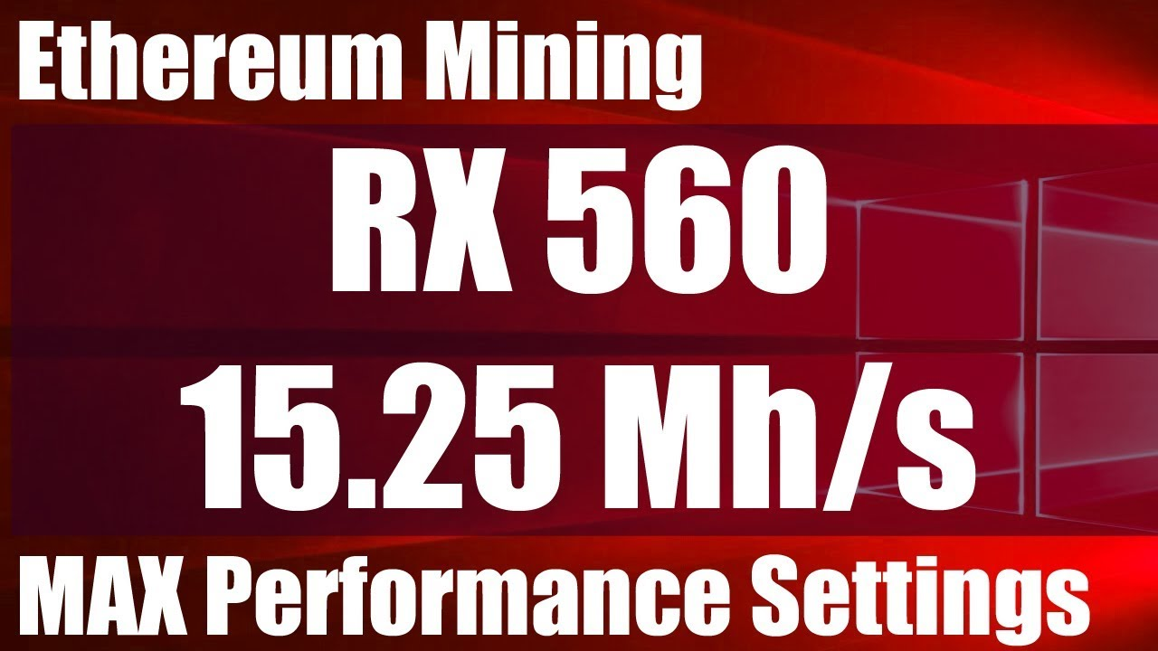 RX560 15.25 Mh/s Mining Ethereum - My MAX Performance Settings