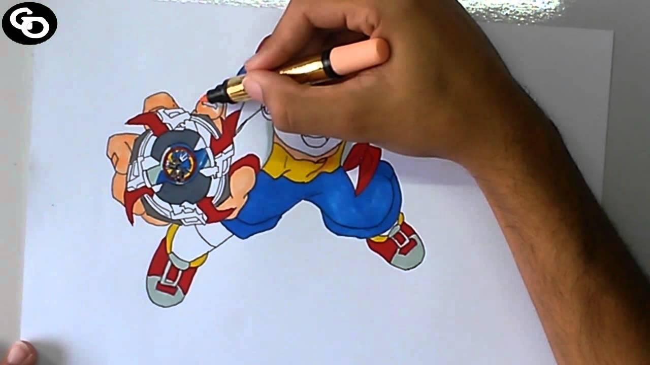 Speed drawing tyson beyblade youtube - Tyson beyblade burst ...