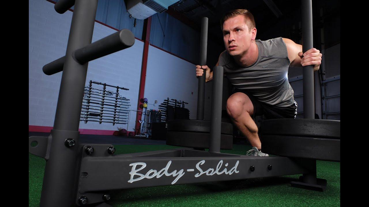 Prowler weight sled machine for pushing pulling exercise ofg