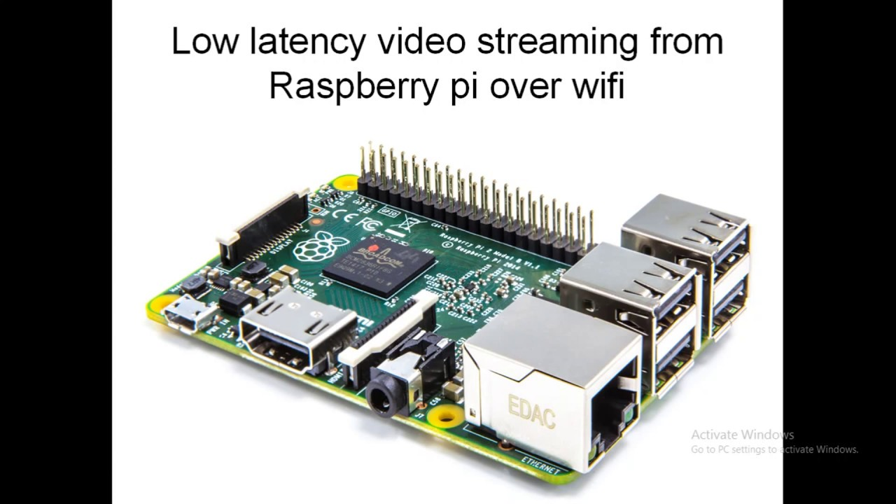 Low latency streaming from raspberry pi over wifi