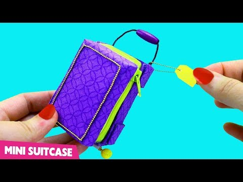 How to Make a Miniature Doll Suitcase that Opens, Closes and Really Moves - simplekidscrafts