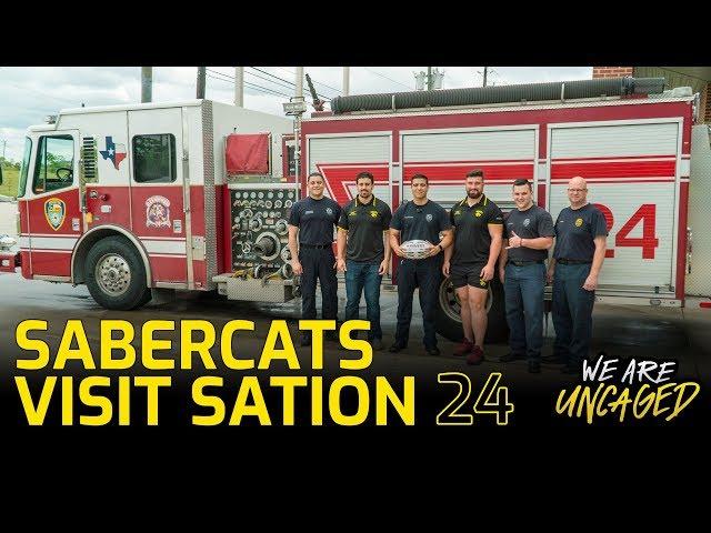 SaberCats visit Fire Station 24