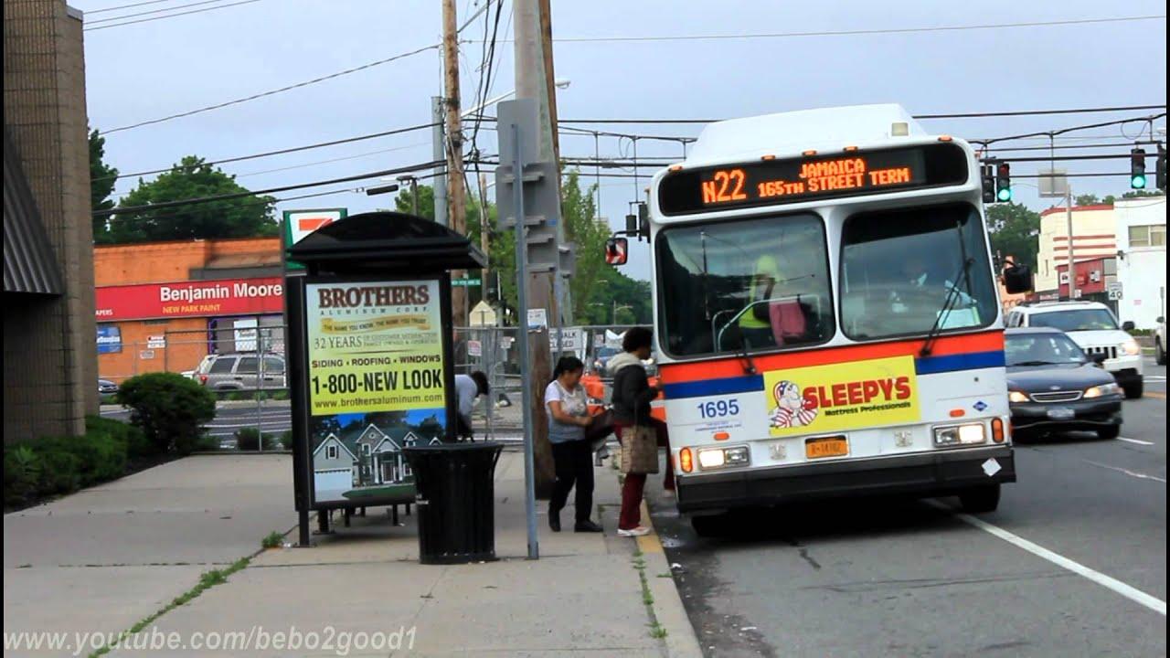 NICE Bus n22 n22L n22A at New Hyde Park Road Hillside Avenue