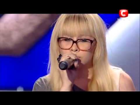 Polina Sinelnikova covers The Climb by Miley Cyrus on X-Factor on Ukraine