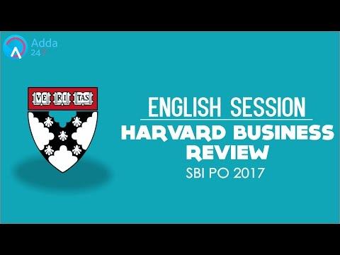 SBI PO 2017 | Harvard Business Review | English | Online Coaching for SBI IBPS Bank PO