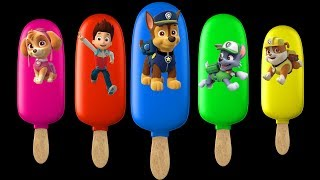 Paw Patrol Ice Cream Kinder Joy Balloons | Finger Family Colors Learn