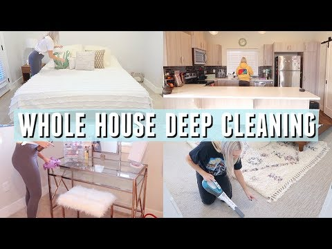 DEEP CLEANING MY ENTIRE HOUSE | Cleaning Motivation