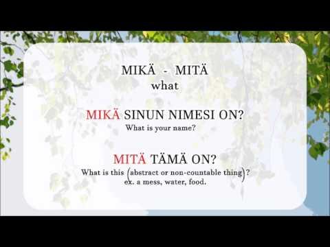 Aura's Finnish Lesson 6: Word Order