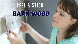 Easy Peel & Stick Barn Wood Accent Wall